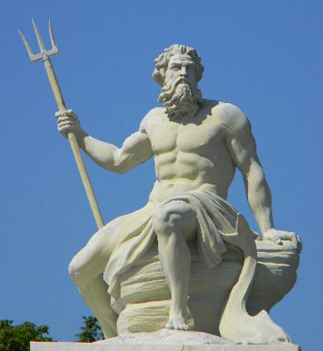 Originale Poseidonstatue