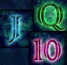 Kartenwerte Dame, Bube und 10 sind die niedrigsten Gewinnsymbole im Slot Spiel Lord of the Ocean