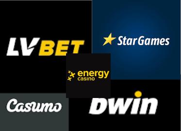 Logos von Casinos